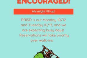 Open Monday 10/12